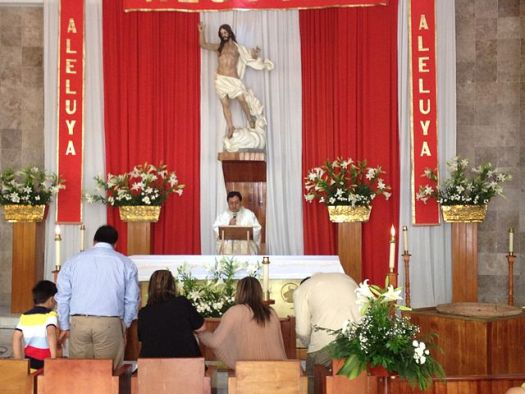 This image represents the last Mass of Jesus Christ. It is celebrated in San Juan de Aragaon Mexico,